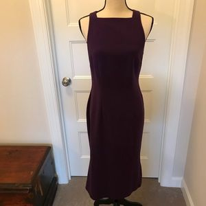 ASOS Purple Pencil Dress with Fishtail Hem
